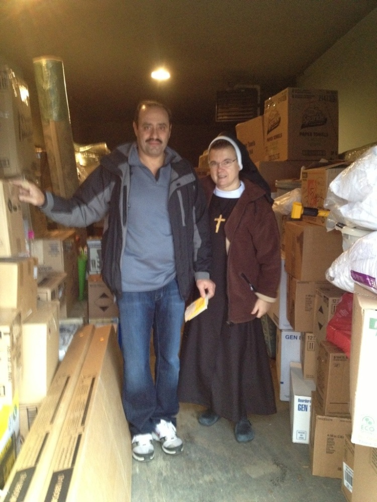 Central Convent in Lodi, NJ prepares container for Jacmel, Haiti (1/4)